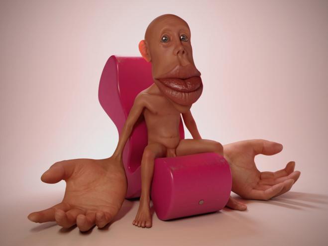 Uffe Isolotto, Phantom Limb (Sensorimotor Homunculus in Panton Phantom Chair)